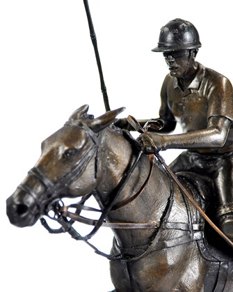 Bronze Polo Sculpture