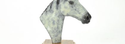 Bronze Horse head – Grey Patina