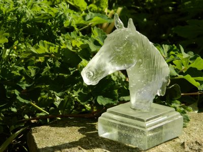 glass horse head