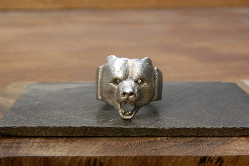 """Big Bear"" silver Bear ring"