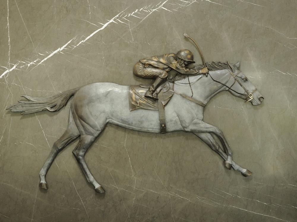 new zealand bronze horse