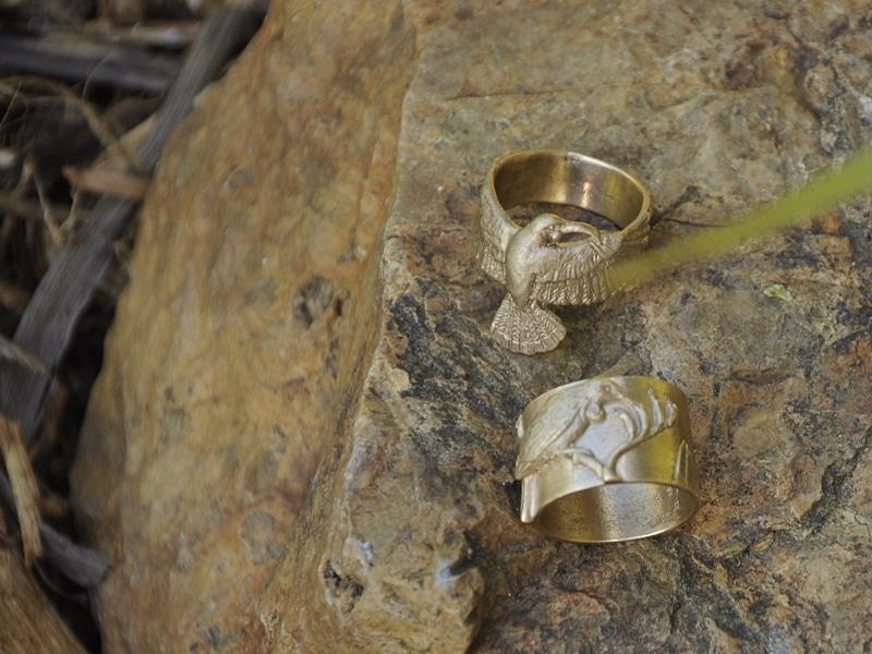 Tui and Huia rings