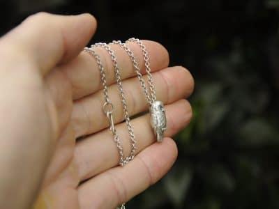 silver ruru pendant